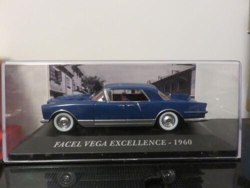 VOITURE FACEL VEGA EXCELLENCE 1960 IXO 1//43  ETAT NEUF EN BOITE