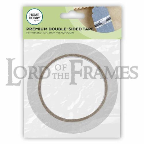 3mm x 20m Premium Double Sided Tape Permanent White Acid Free Craft DIY Hobby