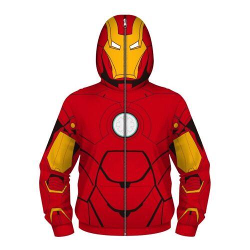 Kids 3D Super Heros Hoodie Sweatshirt Boys Girls Pullover Jumper Jacket Coat Top