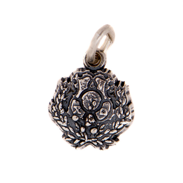 Chi Omega Sterling Silver Crest Charm With Chain