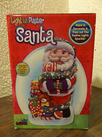 Led Light Up Plaster Santa Claus Christmas Ready To Paint Ceramic Craft Kit