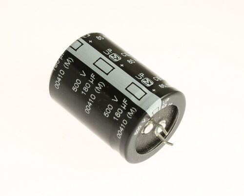 180uF 500V Radial Snap In Mount Electrolytic Capacitor 500 Volts 180mfd 500VDC