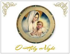 20 CHRISTMAS Religious MADONNA & CHILD Greeting Flat CARDS Envelopes Seals