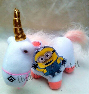 """Despicable Me 2 Soft Toy Fluffy Unicorn Plush Stuffed Animal Doll 9"""" NEW"""