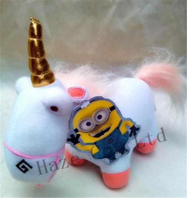 "Despicable Me 2 Soft Toy Fluffy Unicorn Plush Stuffed Animal Doll 9"" ZZ"