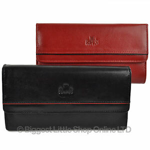 NEW Ladies SOFT Large FLAP Over LEATHER PURSE WALLET by Rowallan Gift ZaraGoza