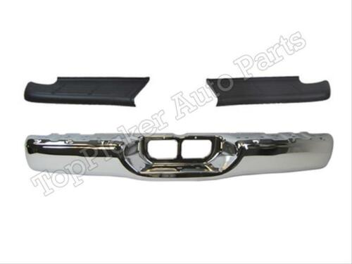 FOR 2000-2006 Tundra STD Bed Rear Step Bumper Face Bar Chrome Top Pad TO1102229