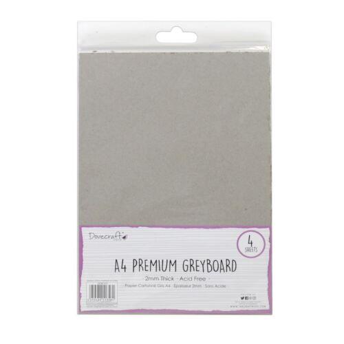 Dovecraft Scrapbooking Artesanía A4 Premium Cartulina Pack-tablero gris