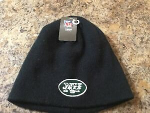 New York Jets Reebok NFL OSFA Cuffless Knit Hat/Beanie NWT Free Shipping Black