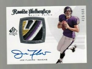 Joe-Flacco-2008-UD-SP-Rookie-Authentics-ROOKIE-AUTOGRAPH-amp-Patch-426-999