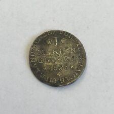 Antique Silver German States 1 Mariengroschen / Groschen 1828 Coin