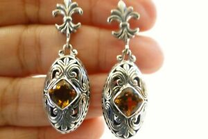 Golden-Yellow-Citrine-Solitaire-925-Sterling-Silver-Dangle-Drop-Stud-Earrings