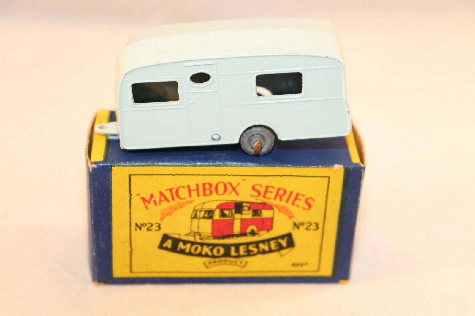 Matchbox Lesney No 23 Trailer Caravan VN mint in box all original condition GMW