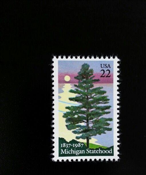 1987 22c Michigan Statehood, 150th Anniversary Scott 22