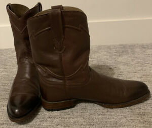 Men-s-Brown-Cuero-Cowboy-Roper-Boots-12D
