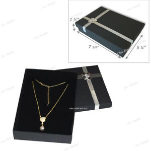Details About Jewelry Box For Necklace Box Large Cardboard Necklace Box Black Jewelry Gift Box