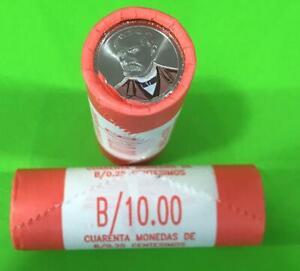 Panama-coins-new-issue-1-4-Balboa-2017-2019-Rolls-40-Pcs-Dr-Justo-Arosemena