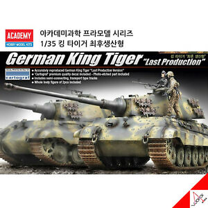 Academy-1-35-German-KING-TIGER-Last-Production-Plastic-Hobby-Model-Kits-13229