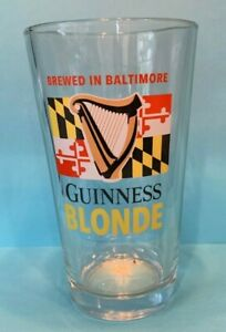 Guinness Blonde Maryland Beer Brewed In Baltimore Pint Glass