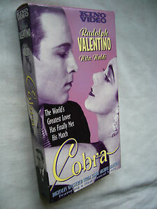 COBRA RUDOLPH VALENTINO NTSC VHS SMALL BOX - <span itemprop='availableAtOrFrom'>Worthing, United Kingdom</span> - COBRA RUDOLPH VALENTINO NTSC VHS SMALL BOX - Worthing, United Kingdom