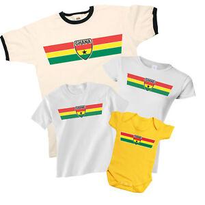 Ghana-patriottico-Retro-Striscia-T-Shirt-Scelta-di-uomo-donna-KIDS-BABY-GROW