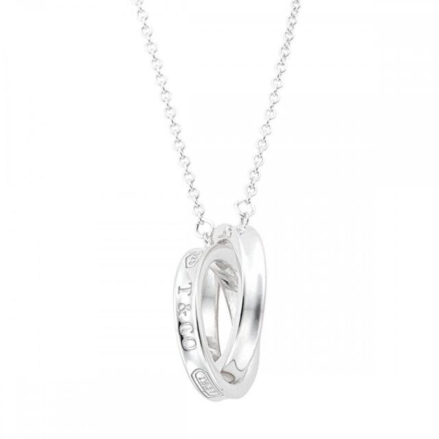 437a2b88595f2 Tiffany & Co. 1837 Interlocking Circle Pendant Necklace 41cm