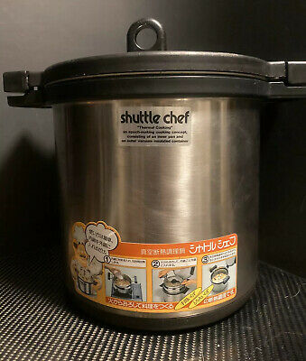 THERMOS Vacuum Heat Insulation Cooker Shuttle Chef 4.3L KBJ-4500BK F//S w//Track#