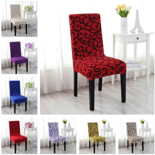 Stretch Chair Cover Seat Solid Dining Protector Slipcover For Weddings Decor LE