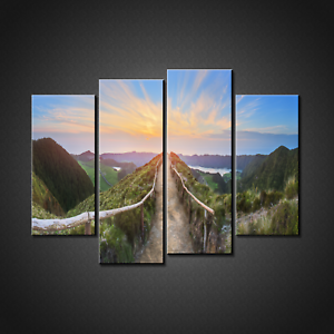 PATH-ON-MOUNTAIN-TOP-CANVAS-PRINT-PICTURE-WALL-ART-HOME-DECOR-FREE-DELIVERY