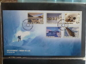 NEW-ZEALAND-2005-ROSS-DEPENDANCY-PHOTOGRAPHY-SET-5-STAMPS-FDC-FIRST-DAY-COVER