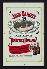 Jack Daniels Tennessee Hollow Nostalgie Barspiegel Spiegel Bar Mirror 22 x 32 cm