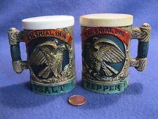 Vintage Brown Mug Eagle Colonial Inn Salt and Pepper Shakers Napcoware C7161  64