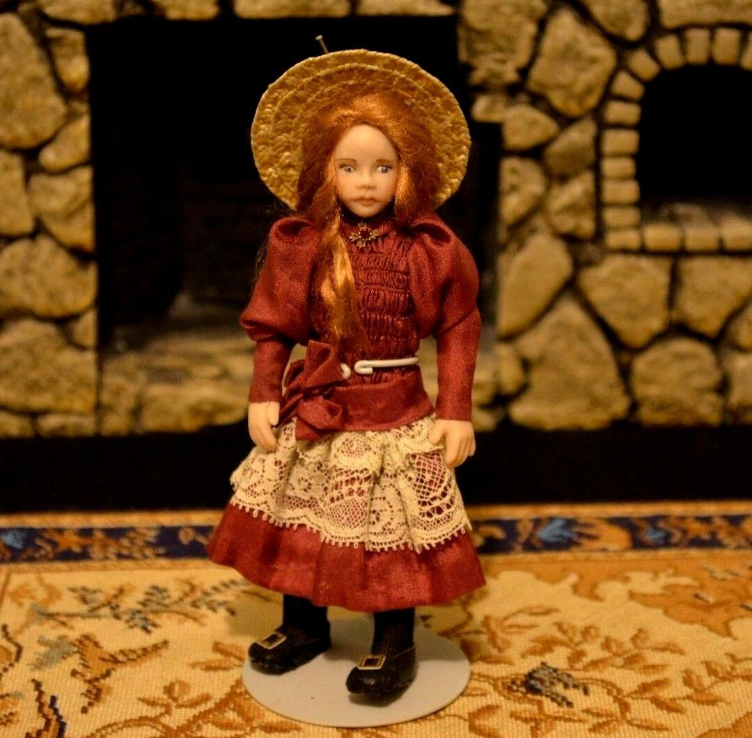 Miniature Porcelain Doll Girl Dollhouse 1 12 Loretta Kasza