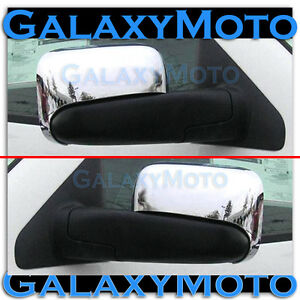 Triple Chrome Half Flip Towing Mirror Cover for 02-08 Dodge Ram 1500+2500+3500