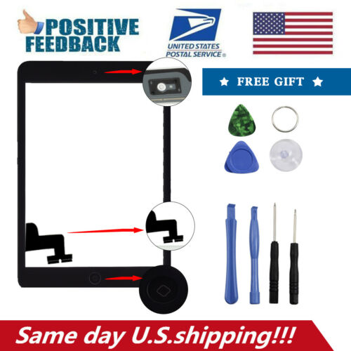 For iPad 2 Replacement Touch Screen Glass Digitizer Assembly Black//White