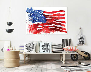 3D-Flag-Graffiti-red-Wall-Stickers-Vinyl-Murals-Wall-Print-Deco-Art-AJSTORE-UK