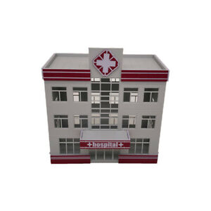 Outland Models Modelleisenbahn Krankenhaus / medizinisches Zentrum Spur H0 1:87
