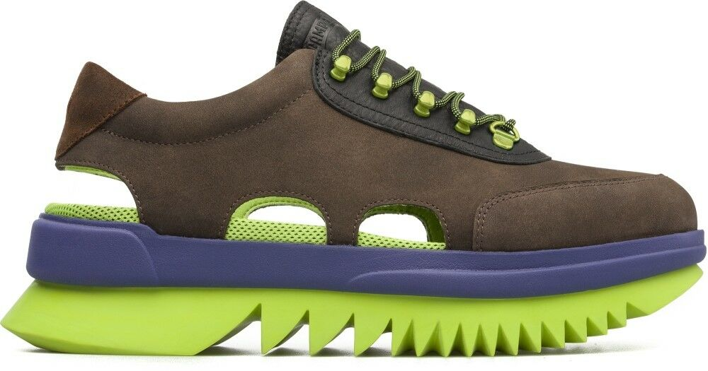 CAMPER REX SNEAKERS BROWN NEON US 8-10 helix K100130-001 kiko together dsq2 dub
