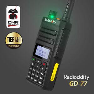 EU-Stock-Radioddity-GD-77-V-UHF-Tier-II-DMR-Digital-Analog-Walkie-Talkie-amp-Cable