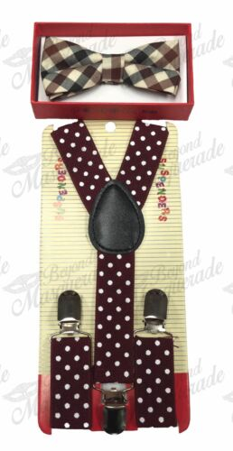 USA Seller Suspender and Bow Tie Set for Baby Toddler Kids Boys Girls Child