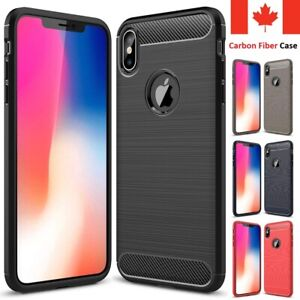 For-iPhone-XR-X-XS-Max-Case-Carbon-Fiber-Shockproof-Soft-Back-Cover