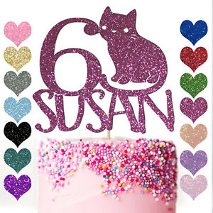 Personalised-CAT-Cake-Topper-for-Kitten-Pets-Animal-Lover-Party-Birthday-Kitty