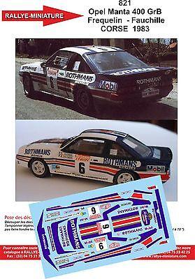 Prezzo Più Basso Con Decalcomanie 1/43 Ref 0821 Opel Manta 400 Frequelin Di Corse 1983 Wrc Rallye