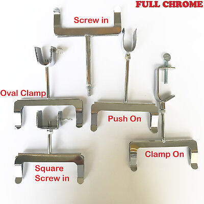 DELUXE CHROME RAIL CARD SALE CLOTHES DISPLAY HOLDERS A5 CLIP ON TO RAIL NEW