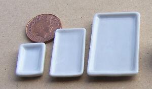 Échelle 1:12 3 Blanc Plaques En Céramique Tumdee Maison De Poupées Miniature Accessoire W10 Lms-afficher Le Titre D'origine