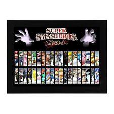 Nintendo Gamecube Super Smash Bros Mario Zelda Megaman Framed Poster Photo #2