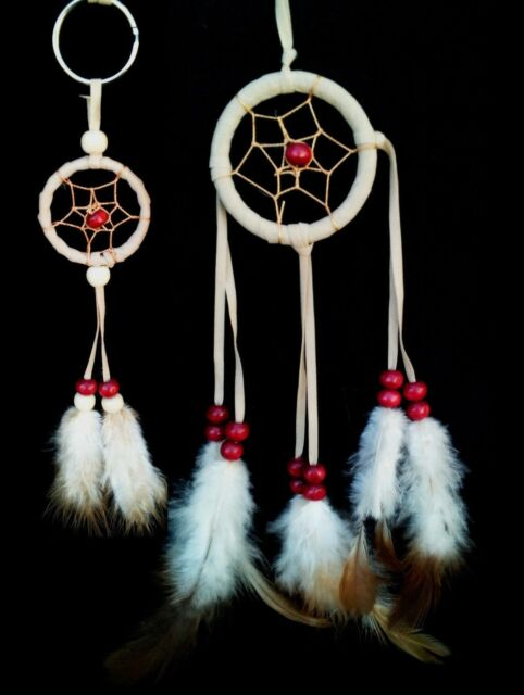 Handmade Dream Cather car or wall hanging with a free Dream Catcher key ring -Be