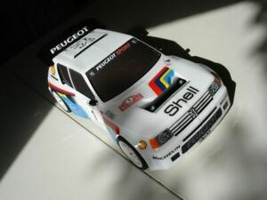 Carrozzeria-body-RC-scala-1-10-Peugeot-205-GTI-RALLY-TOURING-adesivi