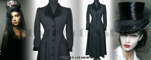 anni Edwardian vittoriano '40 Mistress Noir Abito Ashley Riding Vintage Laura cappotto 4fBwxqPnH
