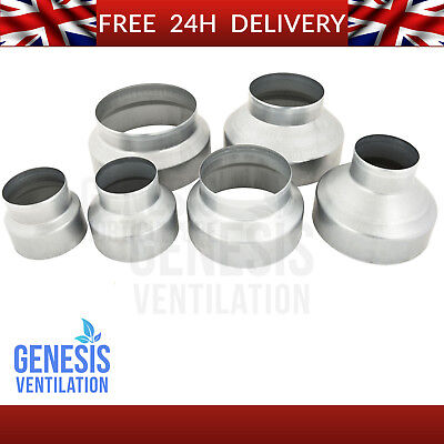 Ventilation Reducers 4 5 6 8 10 12 Inch Ducting Connector Grow Room Hydroponics
